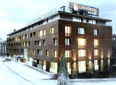 Winter facade in snow | Lucky Bansko SPA & Relax