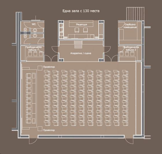 Lucky Bansko Aparthotel SPA & Relax | Conference halls and theatre map