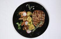 Lamb cutlets on BBQ