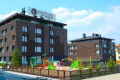 Lucky Bansko Aparthotel SPA & Relax | Kids playground and facade