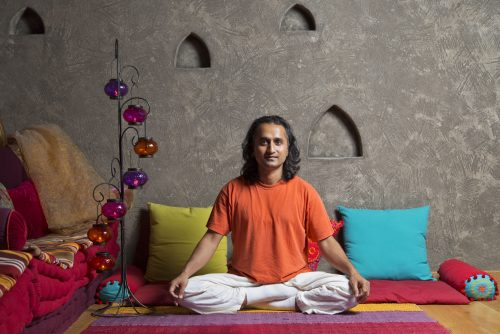 Lucky Bansko hotel | Picture of guru Prakash in yoga pose