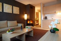 Lucky Bansko |Apartment Delux living room and kitchenette