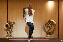 "Yoga pose ""Eagle""   Lucky Bansko"