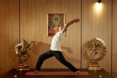 "Yoga Pose ""Warrior""   Lucky Bansko"