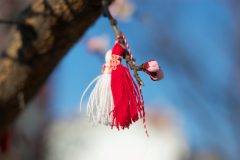 Beautiful martenitsa on a tree | Lucky Bansko