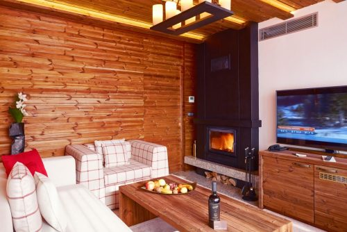 Presidential apartment fireplace | Lucky Bansko