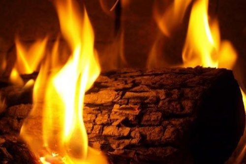 Picture of a Yule-log in the fireplace | Lucky Bansko SPA & Relax