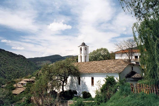 Old church in the village of Kovachevitsa