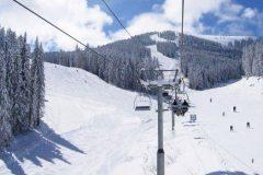 Ski slope in the Pirin mountain