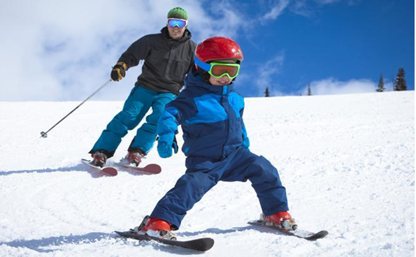 Kids and skiing