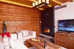 Lucky Bansko Aparthotel SPA & Relax | Presidential Apartment fireplace