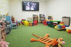 Kids corner with TV
