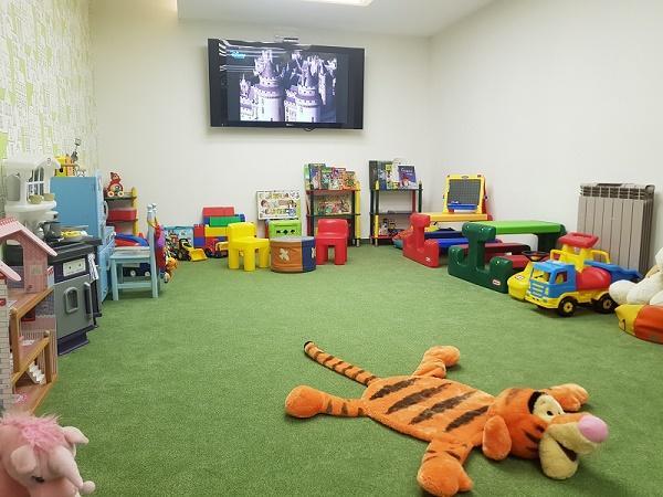 Kids corner with TV