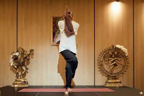 "Yoga pose ""Eagle"" | Lucky Bansko"